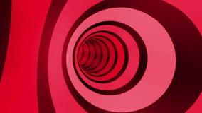 Laço da rotação do túnel da cor ilustração stock