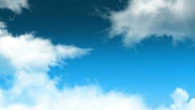 Laço 01 das nuvens ilustração stock