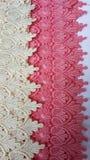 Laço de creme e cor-de-rosa Imagem de Stock