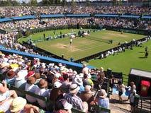 Laço de Davis Cup da equipe dos E.U. Davis Cup contra Austrália no clube de tênis do gramado de Kooyong Fotografia de Stock Royalty Free