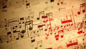 Laço de fluxo das notas da música video estoque