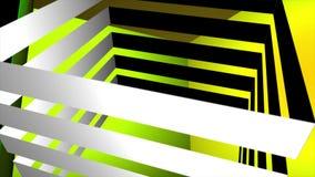 Laço de giro abstrato do cubo 3D ilustração do vetor