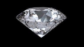 Laço de giro do diamante no fundo preto video estoque