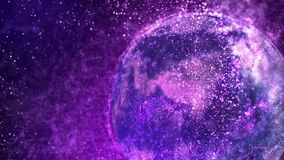 Laço de giro do globo 4K da partícula galáctica ilustração stock