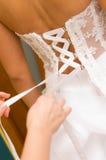 Laço de vestido da noiva Foto de Stock Royalty Free