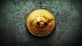 Laço do buraco negro 4K do impacto da parede de Bitcoin video estoque