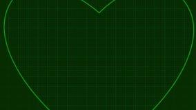 Laço do fundo do coração de Ecg ilustração stock