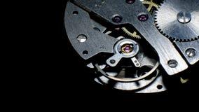 Laço do macro do mecanismo do relógio Funcionamento velho do mecanismo do pulso de disparo do vintage video estoque