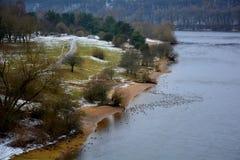 Laço do rio no inverno imagens de stock