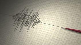 Laço do sismógrafo do terremoto ilustração do vetor