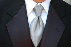 Laço e tux de prata Fotografia de Stock Royalty Free