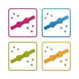 Laço - esboço denominou o ícone - curso editável - ilustração colorida do vetor - isolado no fundo branco ilustração do vetor