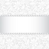 Laço, fita e pérola Imagens de Stock Royalty Free