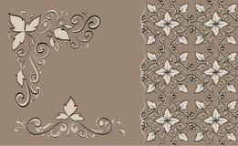Laço floral Imagens de Stock Royalty Free