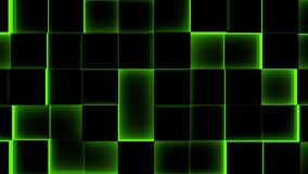 Laço Fundo-sem emenda iluminado dos cubos - 4K - laço sem emenda vídeos de arquivo