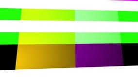 Laço geométrico colorido do cubo da forma ilustração stock