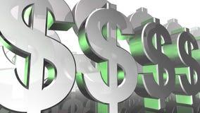 Laço HD do fundo da animação dos gráficos do movimento do sinal do dinheiro do dólar ilustração do vetor