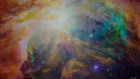 Laço infinito da viagem espacial com uma nebulosa extremamente colorida ilustração do vetor