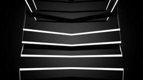 Laço preto e branco do cubo da hélice 3D ilustração stock
