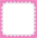 Laço preto macro sob o vidro cor-de-rosa Imagens de Stock Royalty Free