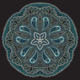 Laço redondo decorativo, floco de neve ilustração do vetor