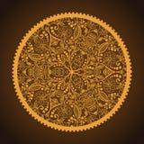 Laço redondo decorativo Hand-Drawn Ilustração Royalty Free