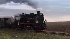 Laço retro da locomotiva de vapor video estoque