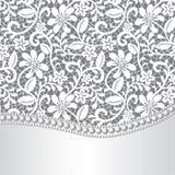 Laço, seda e pérola ilustração royalty free