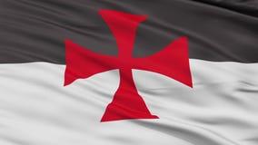 Laço sem emenda da opinião do close up da bandeira do cruzado ilustração stock