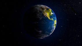 Laço sem emenda da terra do planeta, video estoque