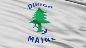 Laço sem emenda de Maine Naval Ensign Flag Closeup ilustração royalty free