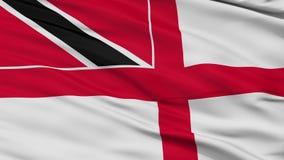 Laço sem emenda do close up da bandeira de Trinidad And Tobago Naval Ensign ilustração stock