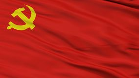 Laço sem emenda do close up da bandeira do Partido Comunista Chinês ilustração royalty free