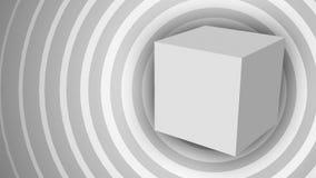 Laço sem emenda do fundo geométrico branco abstrato do movimento video estoque