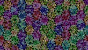 Laço sem emenda do vj calidoscópico do mosaico video estoque