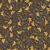 Laço sem emenda floral do ouro Teste padrão do vetor ilustração royalty free