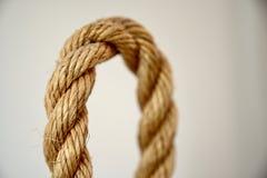 Laço Textured da corda com borrão do foco imagem de stock