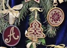 Laço tricotado manualmente Imagem de Stock Royalty Free