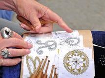 Laço tricotado manualmente Fotografia de Stock