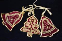 Laço tricotado manualmente Fotografia de Stock Royalty Free