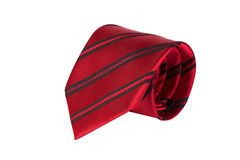 Laço vermelho isolado no fundo branco Fotos de Stock Royalty Free