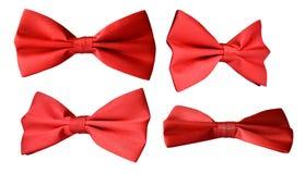 Laço vermelho no branco Fotografia de Stock