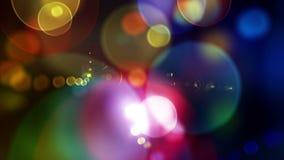 Laço video do fundo dos círculos Defocused coloridos de Laawah 1080p video estoque