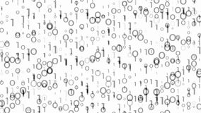 laço video do fundo dos dígitos do preto de 4k 60fps ilustração stock