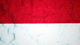 Laço video sem emenda da bandeira do Monegasque video estoque