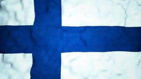 Laço video sem emenda da bandeira finlandesa video estoque
