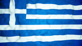 Laço video sem emenda da bandeira grega filme