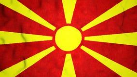 Laço video sem emenda da bandeira macedônia video estoque
