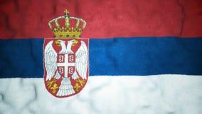 Laço video sem emenda da bandeira sérvio video estoque