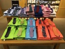 Laços coloridos dos homens fotos de stock